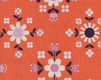 Cotton + Steel Florametry Sweet Orange, Wellsummer Fabric