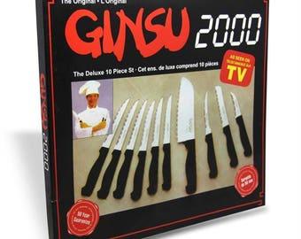 Original Ginsu 2000 10 Piece Kitchen Knife Set - New - Boxed