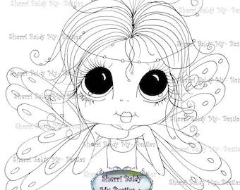 INSTANT DOWNLOAD Digital Digi Stamps Big Eye Big Head Dolls Digi  My Besties Fairy By Sherri Baldy