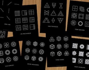 Nine Times: Complete set of Graphic Design Postcards.