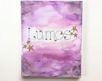 Lumos - Watercolor on Canvas
