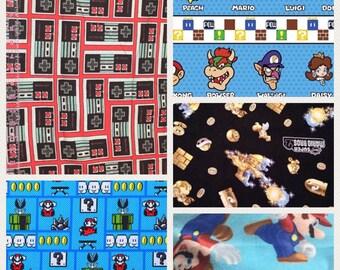 1/2 Yard Nintendo Super Mario Characters /  Fabric By The Yard