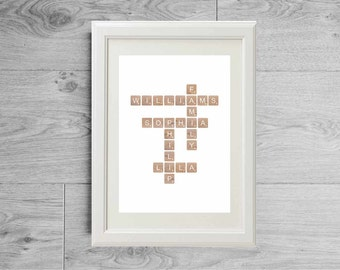 Personalized mother's day gift, Mother gift, gift for mother, gift for her, custom family names, family gift, anniversary gift, wedding gift