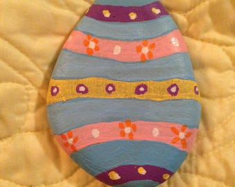 Easter Egg Hand Painted River Rock