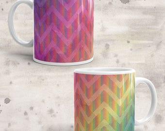 Chevron Watercolor Mug