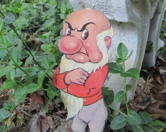 Vintage Grumpy Paper Doll Disney Whitman Publishing