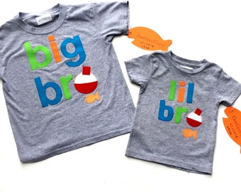 big bro, mid bro, lil bro Fishing Theme, Fishing, Bobber,Fabric Iron On Appliques, NEW APPLIQUE DESIGN