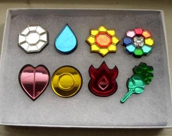 Pokemon Kanto Region 8 Piece Gym Leader Badge Set