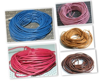 Cord smooth genuine leather 1.5 mm-sold by the yard