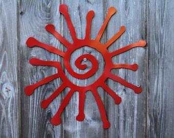 Tribal Sun Wall Art  10 inches (Steel)