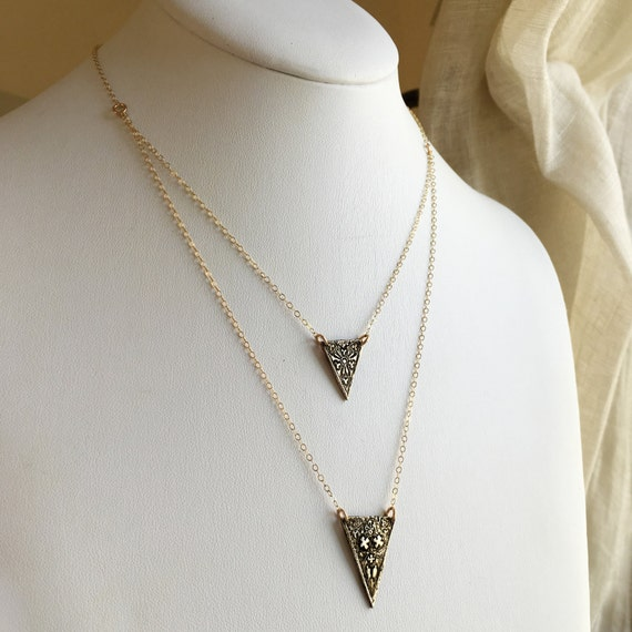 Victory II Necklace in bronze and gold