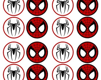Spiderman #2 Edible Wafer Rice Paper Cake Cupcake Toppers x 24 PRECUT