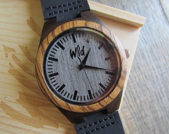 FREE Engraving, Wood Watch,Fathers Day Gift, Boyfriend Gift, Mens watch, Groomsmen gift, Husband Gift, Anniversary Gift,  engraving, SM125