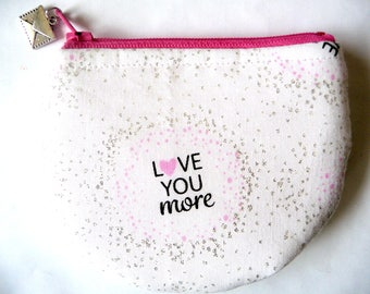 New! Coin purse made from valentine fabric