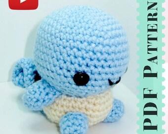 Squirtle Amigurumi Crochet Tutorial Companion Pattern