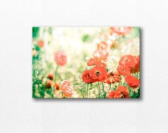 flower photography canvas print wall decor canvas art 12x12 24x36 nature photography floral botanical canvas art nature canvas wrap gold red