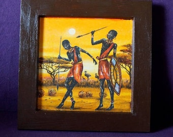 African and African Warrior frame