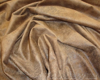 Chocolate Distressed Leather look 100% micro denier fabric
