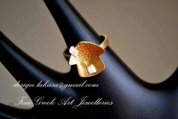 Sweet Home Ring Sterling Silver Gold plated Lakasa eShop Jewelry Nostalgy art grateful hope love Princess Gifts for her birthday best ideas