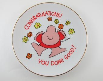 Ziggy plate  Congratulations You Done Good Vintage