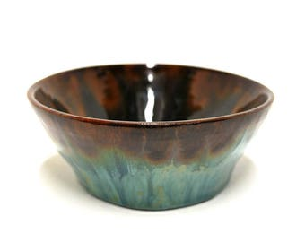Beautiful variegated Blue, green, Brown and Copper coloured Bowl.