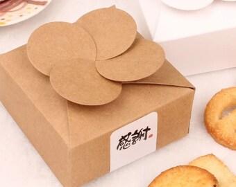 Kraft Paper Box - 5pcs Brown Kraft Boxes Paper Box Gift Boxes Gift Wrapping 80mm x 80mm x 35mm