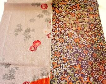 Vintage Japanese Silk Kimono Fabric | Patchwork Lot 128