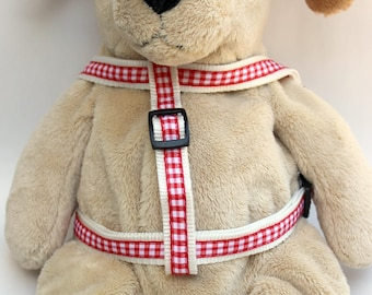 Life's a Picnic Red Step-In Dog Harness