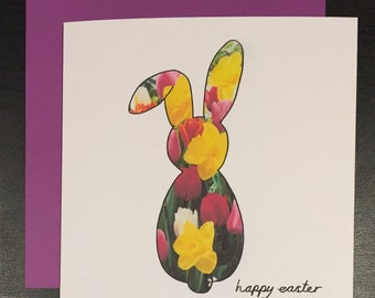 Easter card - easter bunny