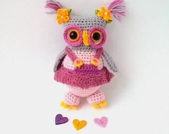 Owl doll, Crochet owl toy, Hand knit Owl, Amigurumi Owl, Plush Owl, Nursery decor, Stuffed Owl Toy, Stuffed animal Owl, Handmade crochet Owl