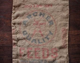 Archer, Burlap, Seed bag, Seed sack, 100 lb bag, Feed Sack