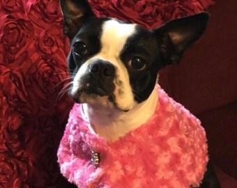 Pink Rosebud Princess Cape/Stole with Rhinestone Button