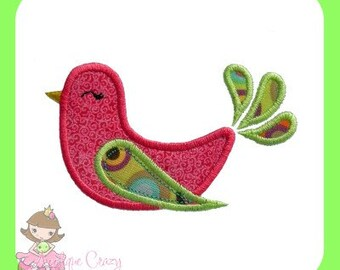 Girly Bird Applique design