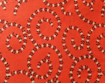 2011 DS Quilts Collection For Fabric Traditions Orange Black Potted Flowers Garden Cotton Fabric