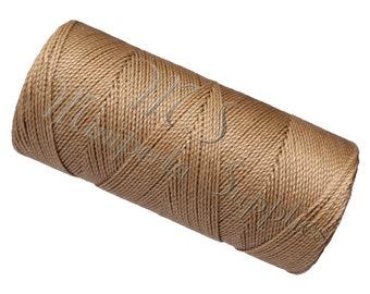 15 Meters Macrame Cord, Linhasita cor 223, Jewelry Making Thread, Sewing Thread, Waxed Cord - Beige