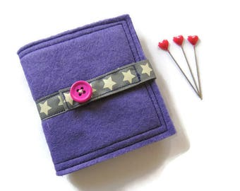 Needle Book - Light Purple Felt Needle Case - Felt Needle Case - Sewing Needle Case - Hand Sewing Needle Case - Needle Book