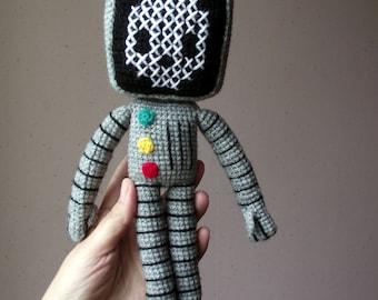 Roger the robot amigurumi pattern PDF