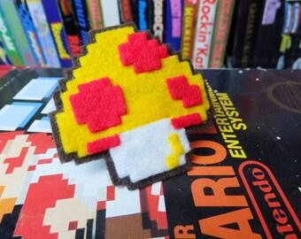 Super Mushroom NES felt ring