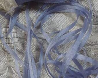 Gorgeous 2mm silk ribbon Lavender  5 yards Color 579
