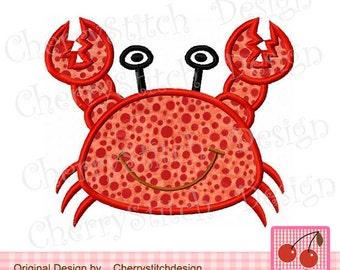 "Embroidery Design Crab Machine Embroidery Applique Design -4x4 5x5 6x6"""