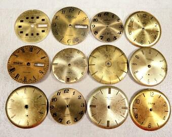 Vintage Watch Faces - set of 12 - c115