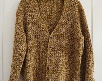 Vintage Golden Yellow Knit Cardigan