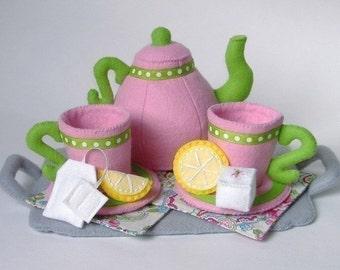 Felt Food Pattern Tea Party Set - PDF