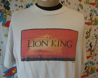 Vintage 90's Walt Disney The Lion King 1994 Movie Promo dope hip hop original T Shirt Adult size XL