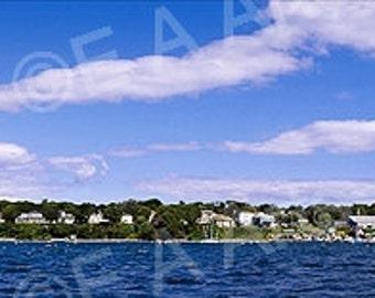 Peaks Island Casco Bay Maine Panoramic Art Custom Print Wall Decor MADE IN MAINE/Maine Photographers