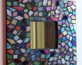 Mosaic Kit - Mirror - Make Your Own Stained Glass Mosaic Mirror