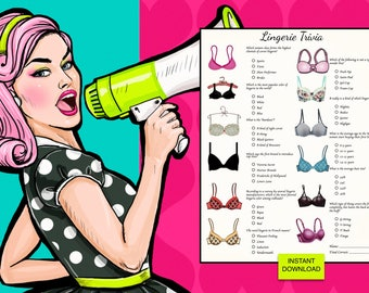 Bachelorette Party | Who know's Lingerie Trivia? | Instant Download