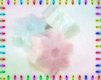 Sparkly Snowflake Soap Gift Set, Snowflake Gift, Snowflake Soap, Christmas Set, Holiday Gift Set, Winter Soap