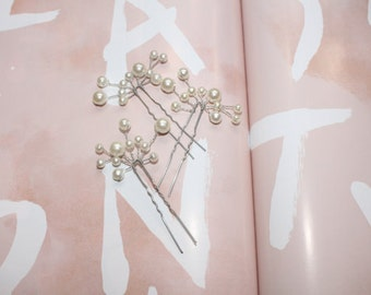 Pink Pearl Hairpins