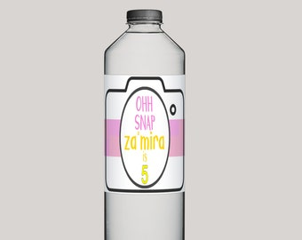 Oh Snap, Water Bottle Label, Oh Snap Birthday, Oh Snap Hashtag, Camera Birthday, Oh Snap Printable, Oh Snap Party, Oh Snap Hashtag, Custom